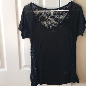 Lacey black tee